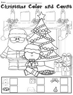 FREE Christmas Color and Count