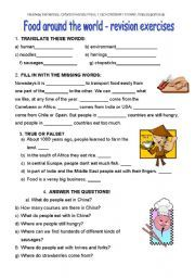 English teaching worksheets: Food around the world