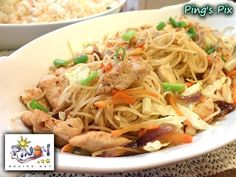Pancit Canton is a mixture of egg noodle dish with chicken, vegetables, shrimp and Chinese sausage. It is one of the Filipino traditi...