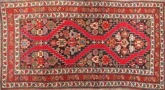 This vintage NW Persian tribal rug is hand knotted with natural dyes and synthetic. This rug probably dates to circa Complete and in very good condition w White Crane, Tribal Rug, Cute Dogs, Persian, Bohemian Rug, Oriental Rugs, Classic, Floors, Vintage