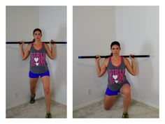 workout with a weighted bar at home