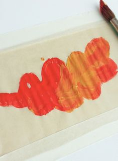 Wax paper painting for the little ones - fall project!