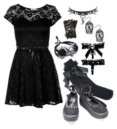 """""""Horror Show"""" by hades-persephone ❤ liked on Polyvore featuring WalG"""