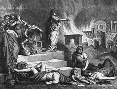 According to Tacitus, a historian at the time, Nero was not actually in Rome when the fire broke out, he was in his villa in Antium (about 30 miles away). When Nero heard about the fire he rushed back to Rome to organize relief efforts. Also, it would have been impossible for Nero to have played the fiddle; it did not exist at the time.