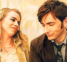 Tenth doctor and rose doctor who. This is LITERALLY THE BEST FAN ART I'VE SEEN WITH THEM