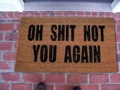 OMG, I want this welcome mat for a certain little annoying visitor! :)