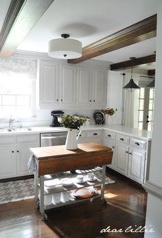 DIY White Cottage Kitchen Makeover on a Budget !