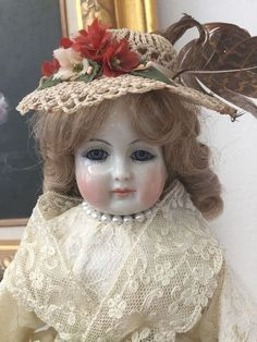 Artist Reproduction of RARE Antique China Huret or Rhomer French Fashion Doll