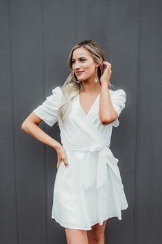 c4657d3daab Ivory Puff Sleeve Dress - Dottie Couture Boutique Dottie Couture Boutique