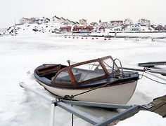 Kladesholmen during winter on Bohuslan coast in Sweden