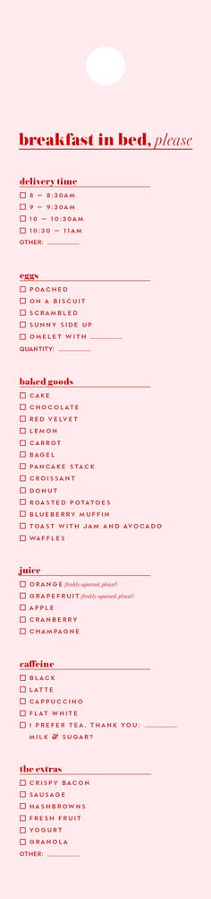 #charmcolorfully a downloadable breakfast-in-bed menu for room service requests this weekend and beyond