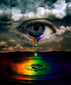 Rainbow Tears from an abused child. Hurting so bad but thinking it will get better someday.