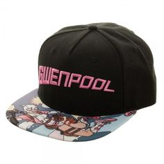 b7c5efe2eed Marvel Comics Gwenpool Sublimated Bill Snapback Cap Hat NEW Gwen Stacey