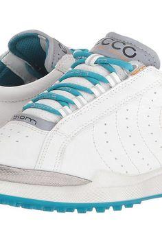 ECCO Golf BIOM Hybrid Hydromax II (White/Capri Breeze) Women's Shoes - ECCO Golf, BIOM Hybrid Hydromax II, 100553-59581, Footwear Athletic General, Athletic, Athletic, Footwear, Shoes, Gift, - Street Fashion And Style Ideas