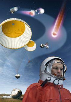 Yuri Gagarin's Landing, Artwork