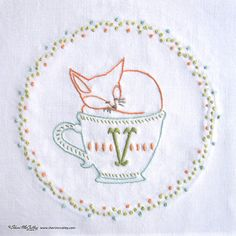 Embroidery Pattern PDF V is for Vixen In a от sherimcculley