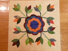 Rose of Sharon quilt block #1