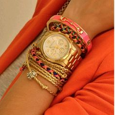 Gold arm party