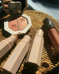 Fenty beauty by Rihanna Dior Makeup, Makeup Kit, Skin Makeup, Makeup Inspo, Makeup Cosmetics, Makeup Inspiration, Makeup Brushes, Beauty Makeup, Et Tattoo