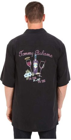 d90bc22159 Tommy bahama big tall big tall to zin or not to zin camp shirt at 6pm.com. Short  Sleeve ...