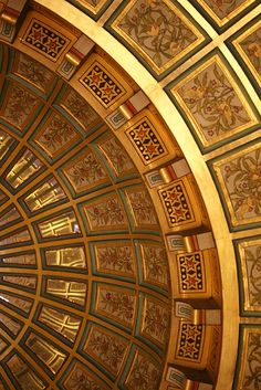 """""""Golden rays""""; This is the ornately decorated ceiling from one of the bedrooms in Castle Coch, near Cardiff, Wales. via thegreenalbum -