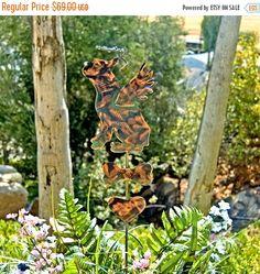 Golden Retriever Memorial Metal Garden Art Stake Pet Grave Marker