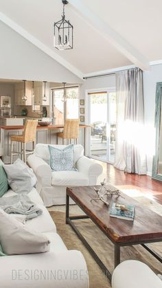 light and airy living room Sherwin Williams Palette