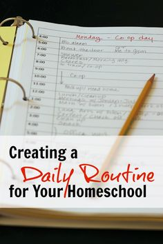 Creating a Daily Routine for Your Homeschool | Life as Mom - Creating a daily…                                                                                                                                                                                 More