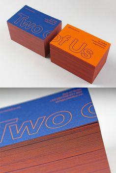Clever Bold Business Card Design For A Design Studio