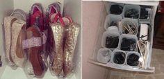 zapatos y cables en botellas de plástico