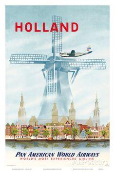 Pan American: Holland, c.1951 Pósters en AllPosters.es