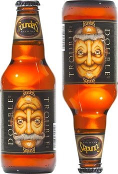 Founders Double Trouble Ale #packaging Here's another one upside down is right side up too : ) PD
