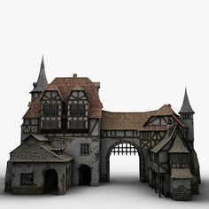 Medieval Warehouse Model available on Turbo Squid, the world's leading provider of digital models for visualization, films, television, and games. Medieval Houses, Medieval Town, Medieval Castle, Medieval Fantasy, Minecraft Projects, Minecraft Houses, Planet Coaster, Minecraft Medieval, Fantasy House