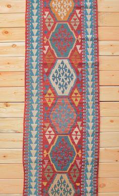 Turkish Rug Runner Boho Rug 2.62 x 9.05 ft Turkish Kilim Runner Rug Kilim Rug Area Rug Geometric Rug Bohemian Decor Kilim Ottoman Wool Rug by Rugsnrunners on Etsy
