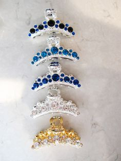 UK Seller NEW Sparkling Faceted Crystal Beaded Hair Clip