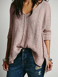 Free People Chunky Oversized Pullover at Free People Clothing Boutique