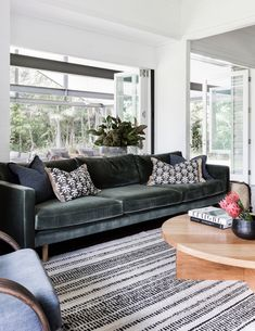 The Charlie sofa from our Staple&Co Collection.   Shown here in Atelier Velvet in a design project by our client Louise Walsh.  #feltsofa #scandi #livingroom #fabriclounge #charcoalinteriors #minimalinteriors #minimal #australianmade #designerfurniture #modernfurniture #charcoalgrey #cameronfoggo #fabriclounge #greylounge #greycouch #madetoorder