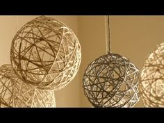DIY ( Do It Yourself ) - Yarn Chandelier - YouTube