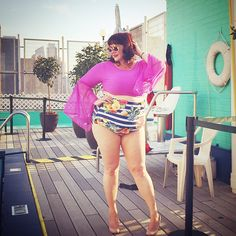 "263 Likes, 11 Comments - Amber from Style Plus Curves (@stylepluscurves) on Instagram: ""So sad that I couldn't be at the #GoldenConfidencePoolParty tonight but I'm reliving the memories…"""