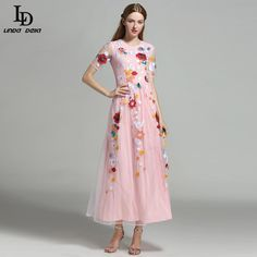 High Quality Women's Half Sleeve Warrior Character Floral Print Maxi Long Dress Like and Share if you agree! www.storeglum.com... #shop #beauty #Woman's fashion #Products