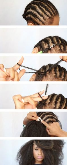 How to install and maintain crochet braids, types of braiding hair and patterns--basically, everything you need to know about crochet braids in one article. # types of Braids articles Crochet Braids, Everything You Need to Know Crochet Braid Pattern, Crochet Braid Styles, Braid Patterns, Crochet Hair, How To Crochet Braids, Crotchet Braids, Crochet Patterns, Crochet Twist, Natural Hair Braids