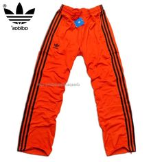 Manchester Adidas Originals Mens Training Pants Orange Black Strongly Recommended