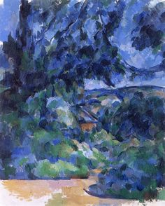 Paul Cezanne - Blue landscape