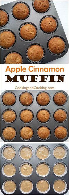 Apple Cinnamon Muffin Recipe Healthy Apple Cinnamon Muffins, Apple Muffins, Cinnamon Apples, Chocolate Muffins, Chocolate Recipes, Peanut Butter Snacks, Nutter Butter, Simple Muffin Recipe, Trifle Pudding