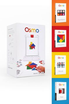 Osmo is a unique educational gaming accessory for the iPad that comes with five games that will change the way your child plays. This award winning game,created by young parents, encourages creative thinking and social interaction by expanding gameplay beyond the screen, turning any physical object into a digitally connected game piece. All five games can be downloaded from the iTune App store.