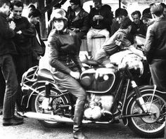 Anke-Eve Goldman was a female racer in the '50s and '60s who had a passion for speed and high performance motorcycles. This six-foot beauty taught German on a U.S. Air Force base to the children of soldiers stationed there. A motorcycle riding school teacher, Anke, by the late 50s, quickly became quite a popular figure and spokesperson for BMW.