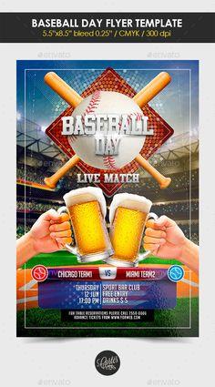 Baseball Flyer  Flyers And Baseball