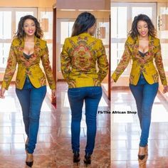 ankara stil Ankara Jackets are globally rocked on any stage in the world. Best Ankara Jackets styles here are unbeatable styles you would really love to try out African Tops, African Dresses For Women, African Fashion Dresses, African Attire, African Wear, African Women, African Style, African Inspired Fashion, African Print Fashion