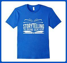 Mens Shirts for Teachers Storytelling original Social Media Tee XL Royal Blue - Careers professions shirts (*Amazon Partner-Link)