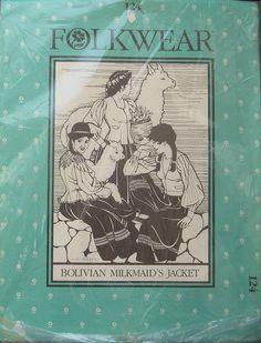 Folkwear Bolivian Milkmaids Jacket Pattern by TheHowlingHag, $9.95